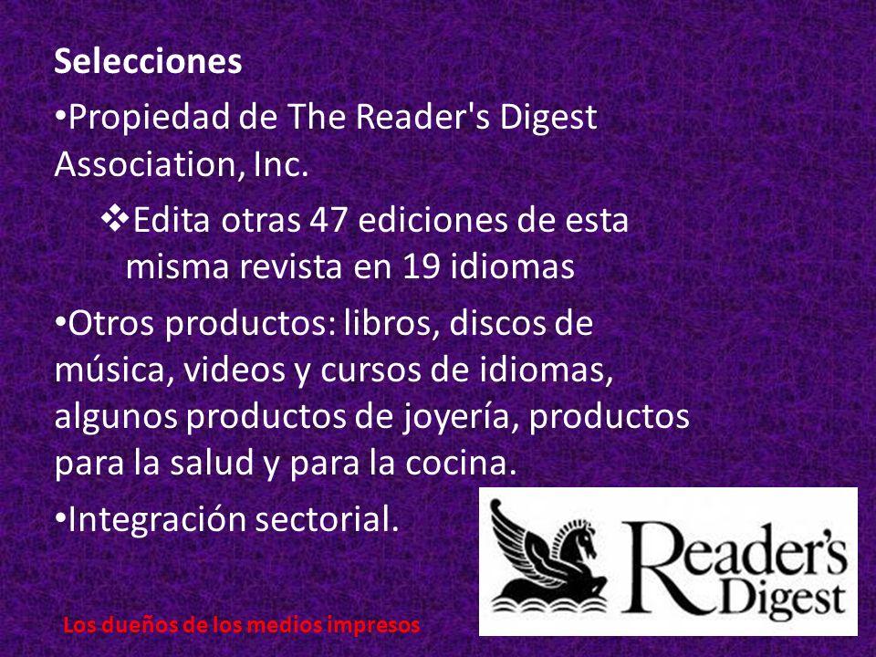 Selecciones Propiedad de The Reader s Digest Association, Inc.