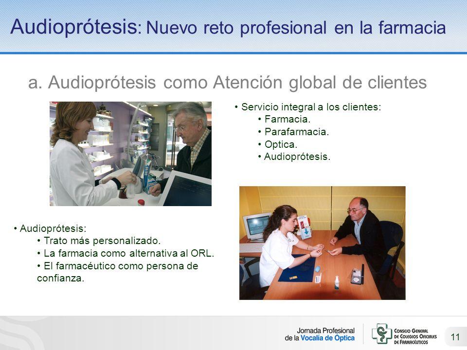 11 Audioprótesis : Nuevo reto profesional en la farmacia a.