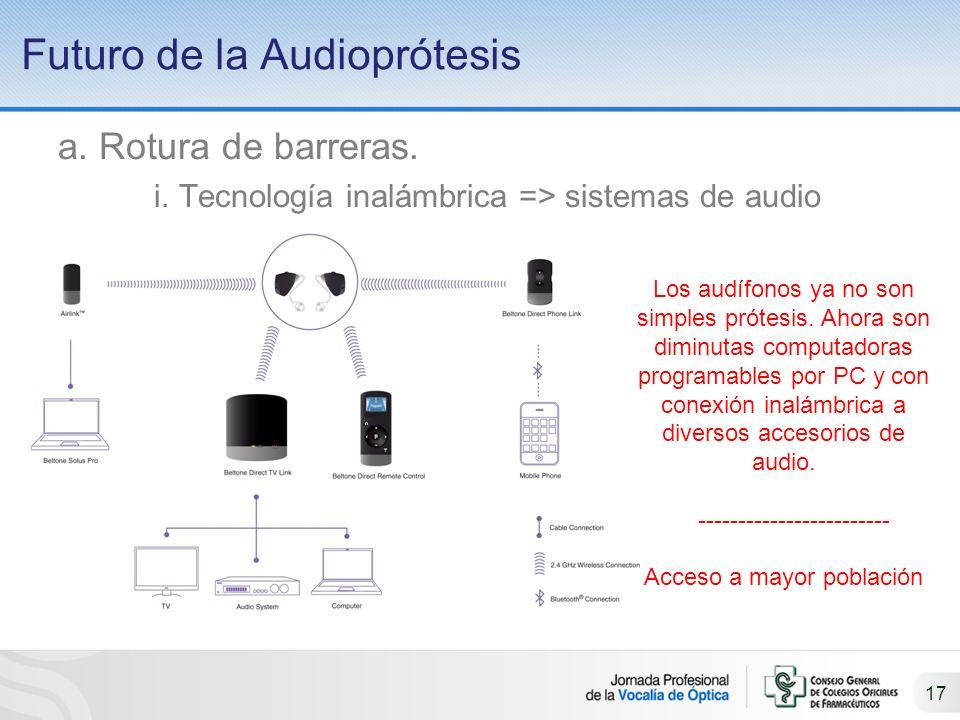 17 Futuro de la Audioprótesis a.Rotura de barreras.