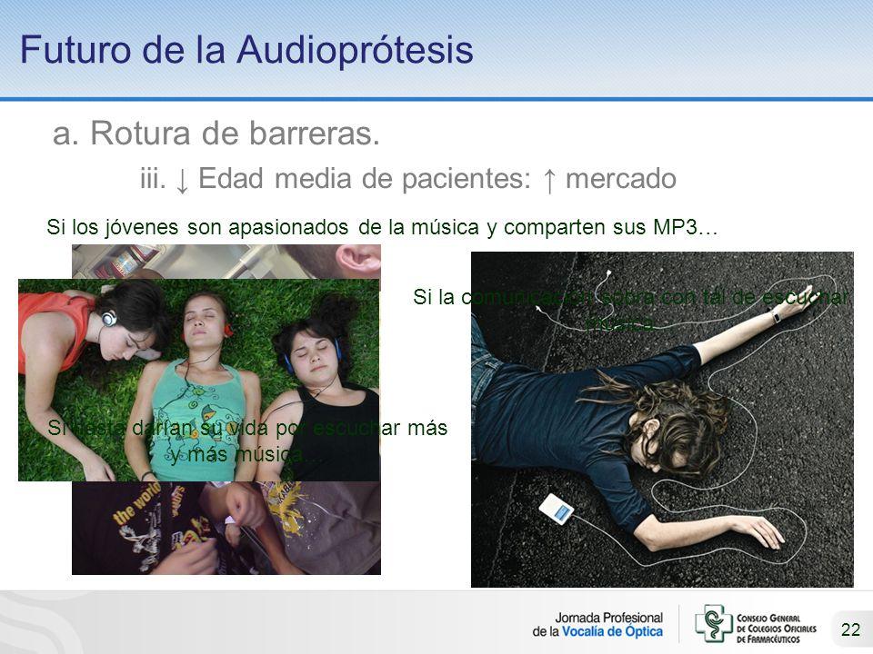 22 Futuro de la Audioprótesis a.Rotura de barreras.