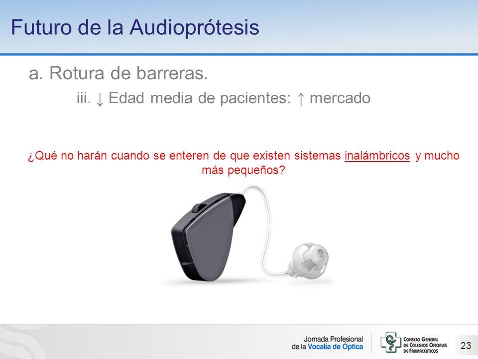 23 Futuro de la Audioprótesis a.Rotura de barreras.