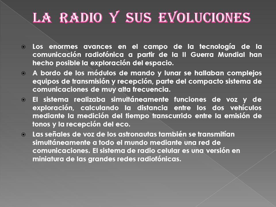 Los enormes avances en el campo de la tecnología de la comunicación radiofónica a partir de la II Guerra Mundial han hecho posible la exploración del