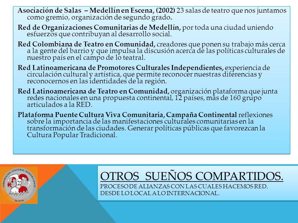 OTROS SUEÑOS COMPARTIDOS. PROCESO DE ALIANZAS CON LAS CUALES HACEMOS RED.