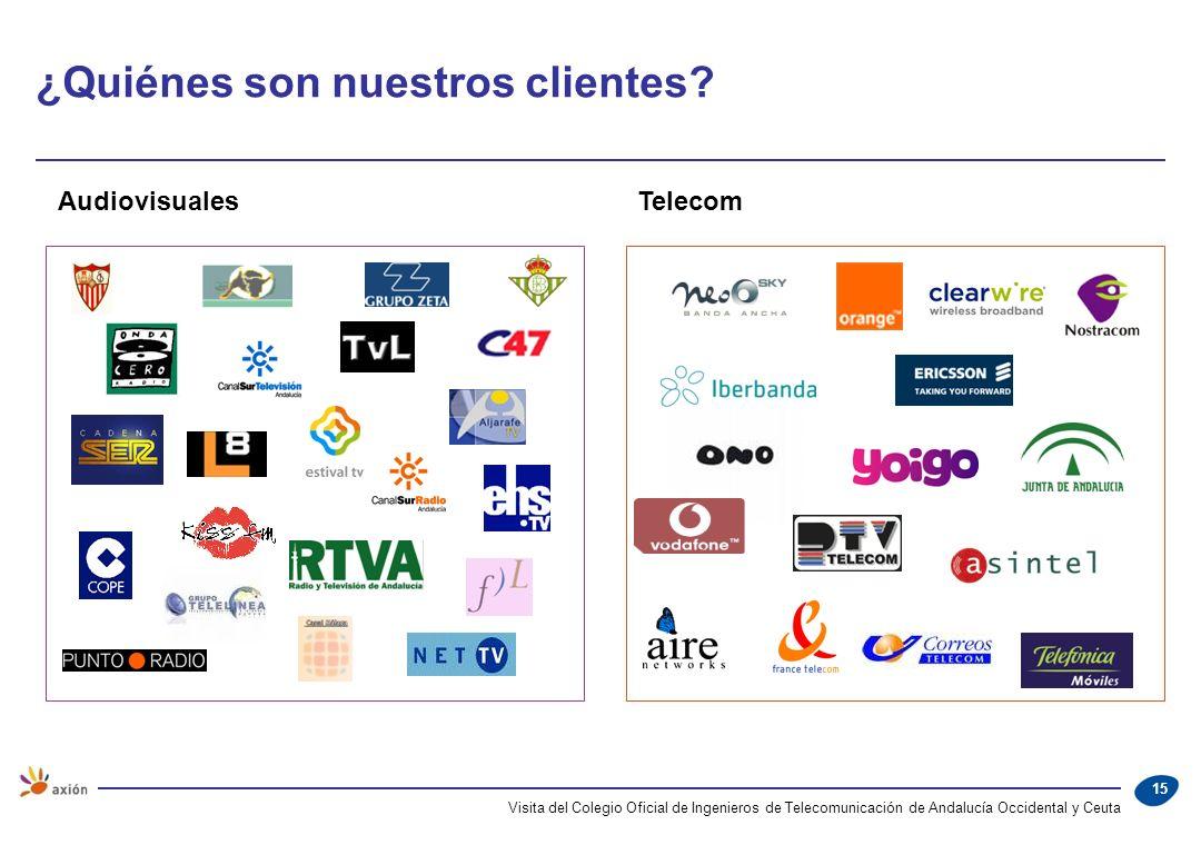 15 AudiovisualesTelecom ¿Quiénes son nuestros clientes?