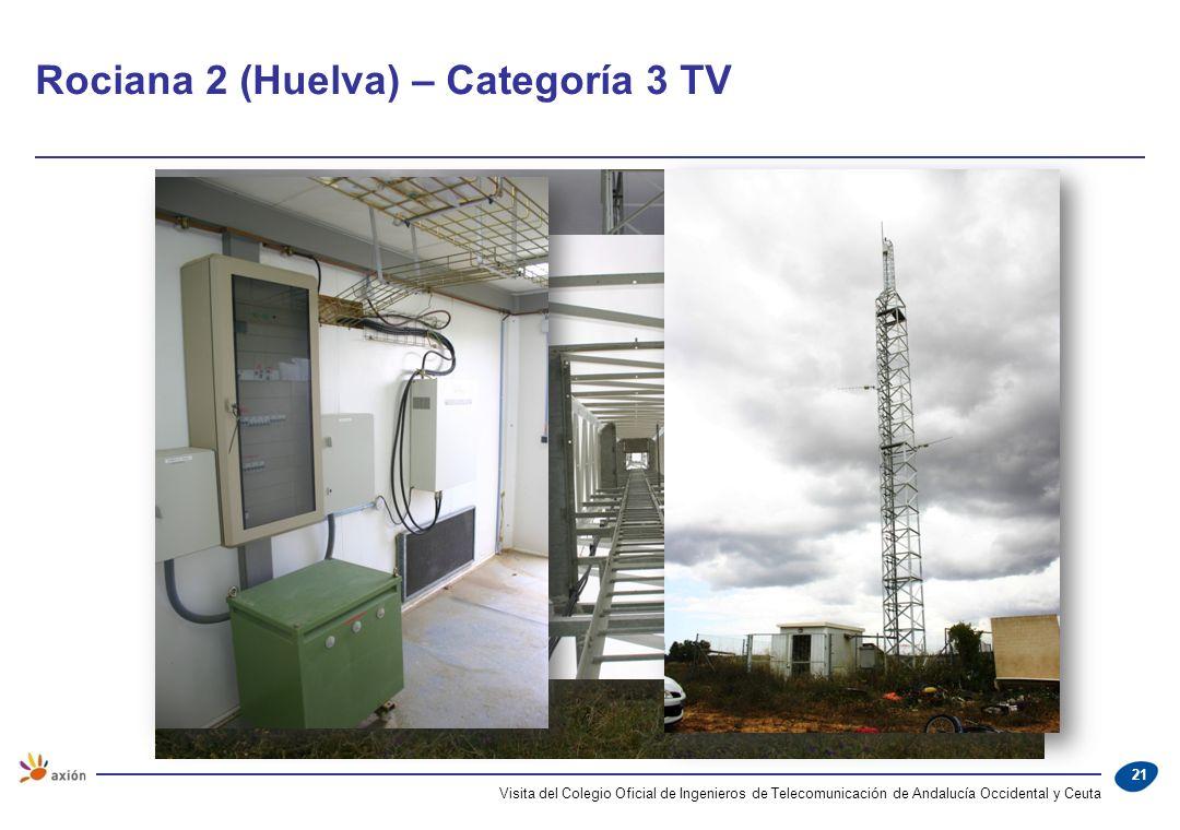 Rociana 2 (Huelva) – Categoría 3 TV Visita del Colegio Oficial de Ingenieros de Telecomunicación de Andalucía Occidental y Ceuta 21