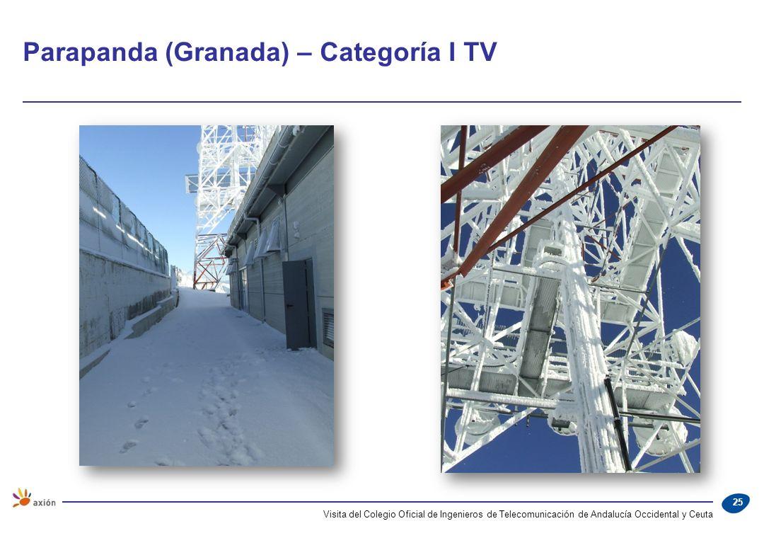Parapanda (Granada) – Categoría I TV Visita del Colegio Oficial de Ingenieros de Telecomunicación de Andalucía Occidental y Ceuta 25
