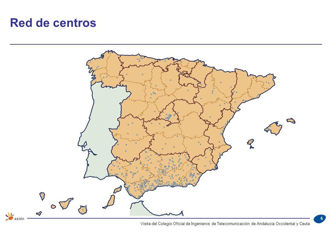 Montalbán 11 Distribución geográfica de la plantilla Visita del Colegio Oficial de Ingenieros de Telecomunicación de Andalucía Occidental y Ceuta