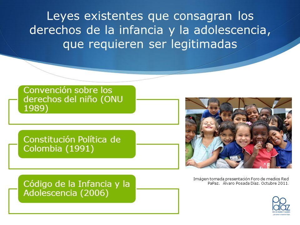 Leyes existentes que consagran los derechos de la infancia y la adolescencia, que requieren ser legitimadas Convención sobre los derechos del niño (ON