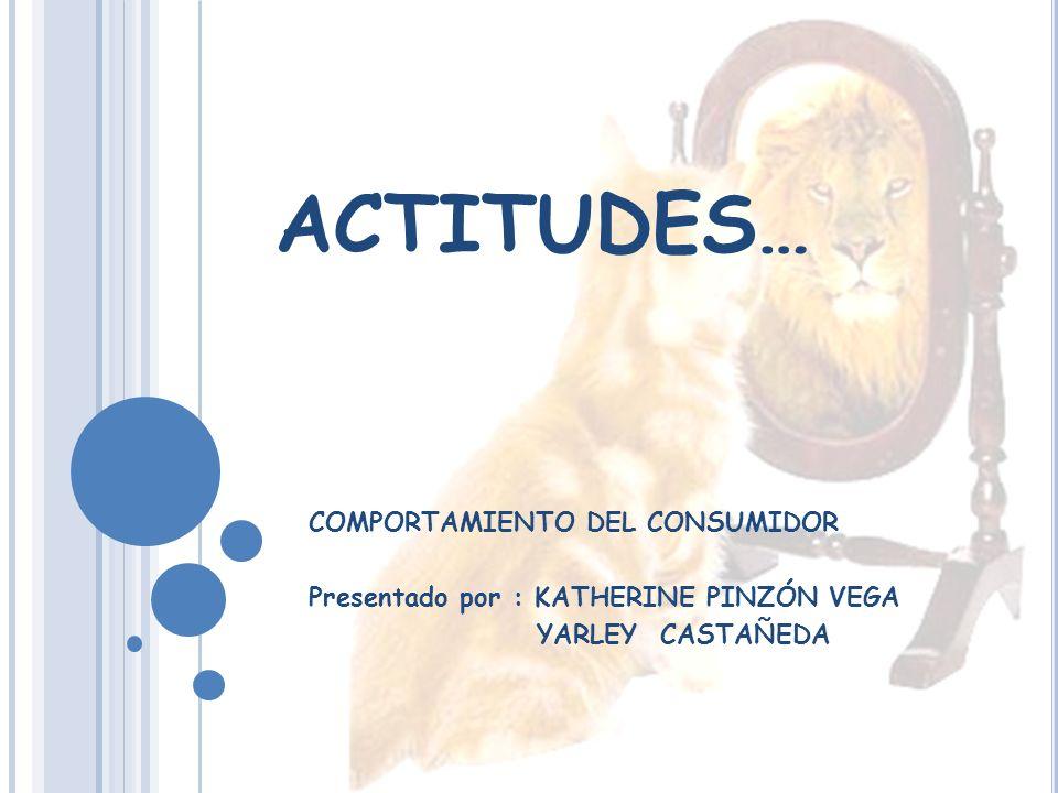 ACTITUDES… COMPORTAMIENTO DEL CONSUMIDOR Presentado por : KATHERINE PINZÓN VEGA YARLEY CASTAÑEDA