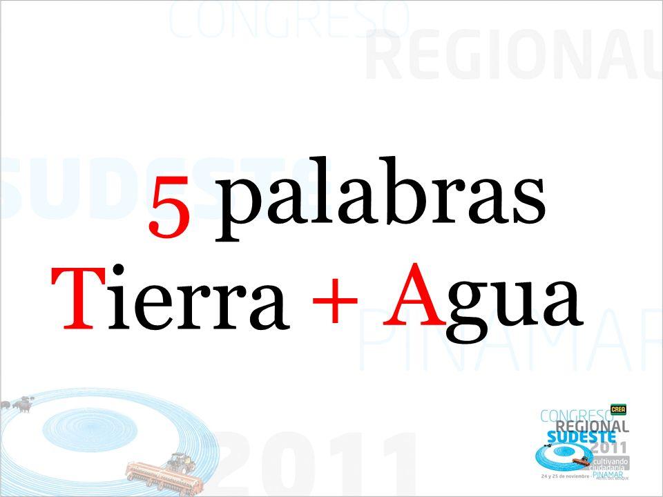 5 palabras Tierra + Agua