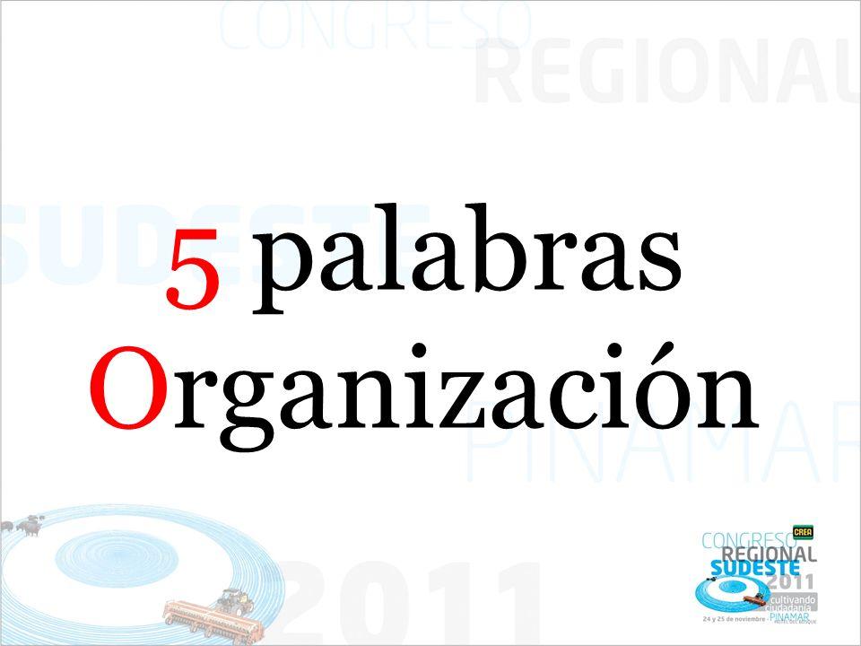 5 palabras Organización