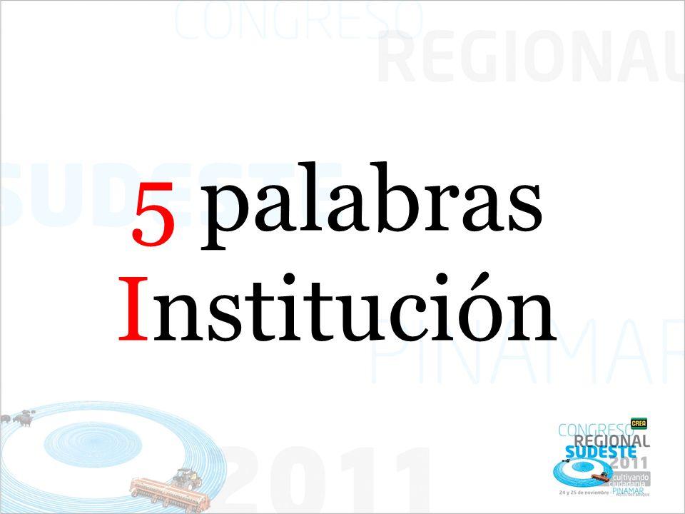 5 palabras Institución