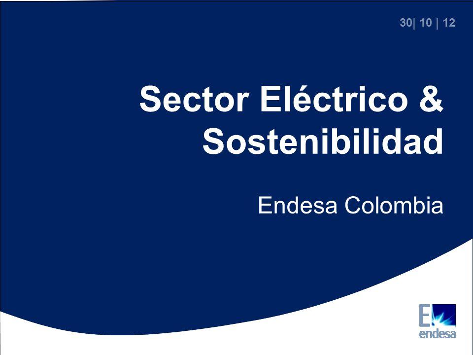30  10   12 Sector Eléctrico & Sostenibilidad Endesa Colombia