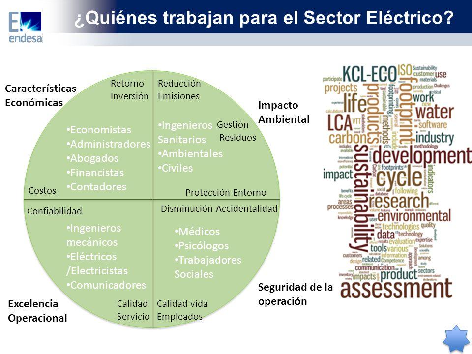 ¿Quiénes trabajan para el Sector Eléctrico.