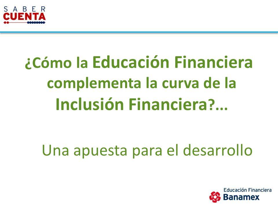 ¿Cómo la Educación Financiera complementa la curva de la Inclusión Financiera ?... Una apuesta para el desarrollo