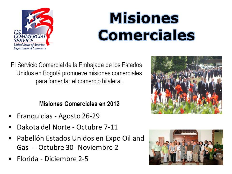 El Servicio Comercial de la Embajada de los Estados Unidos en Bogotá promueve misiones comerciales para fomentar el comercio bilateral. Misiones Comer