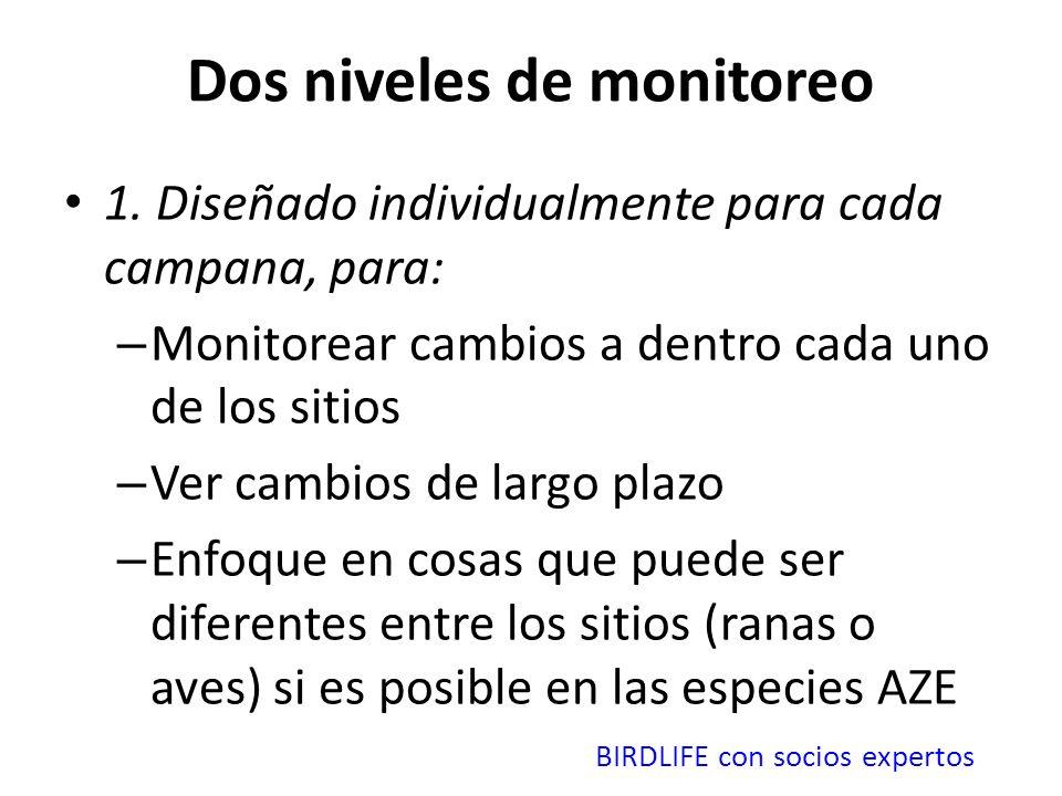 Dos niveles de monitoreo 1.