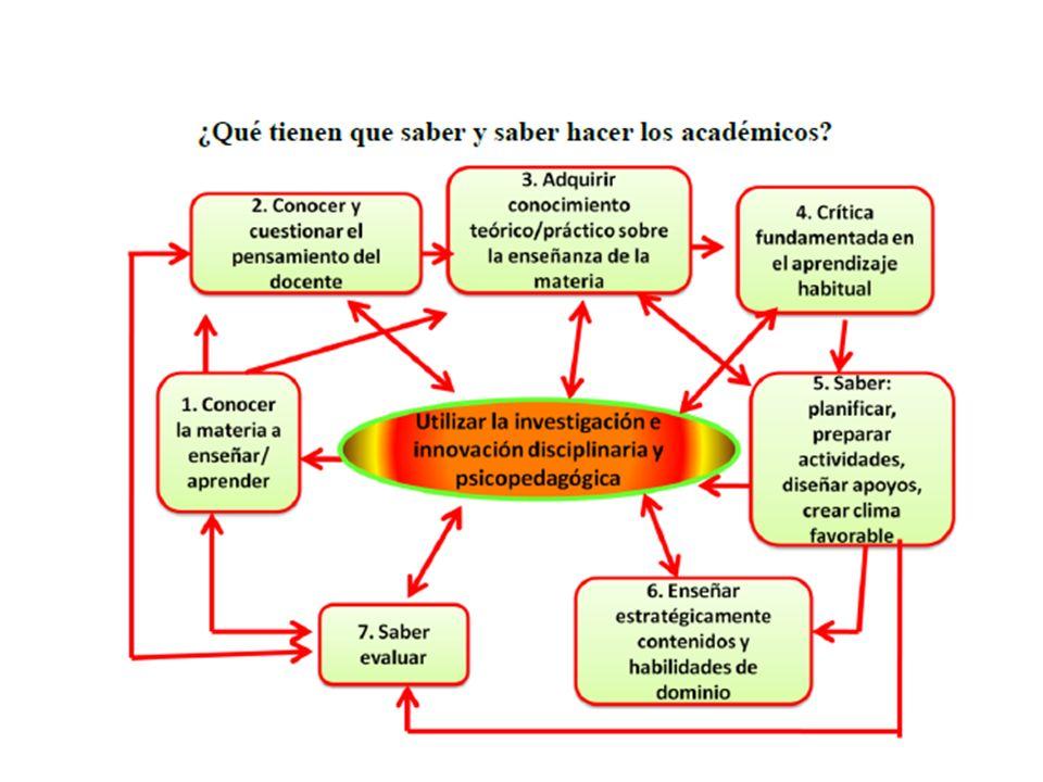 16 ¿Qué tienen que saber y saber hacer los académicos?