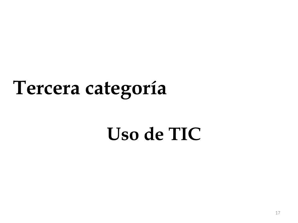 17 Tercera categoría Uso de TIC