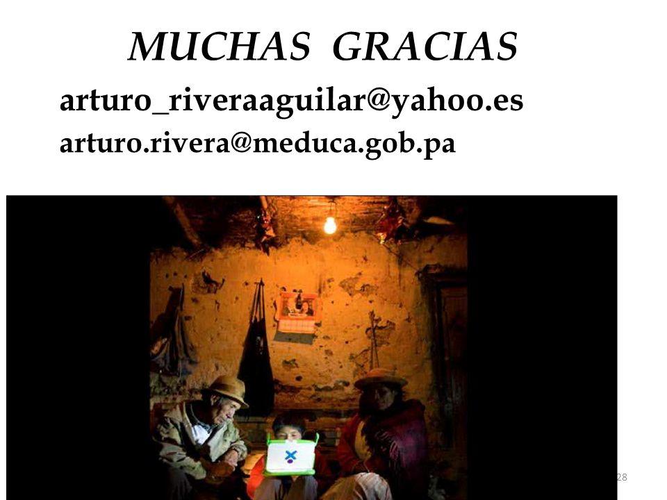 28 MUCHAS GRACIAS arturo_riveraaguilar@yahoo.es arturo.rivera@meduca.gob.pa