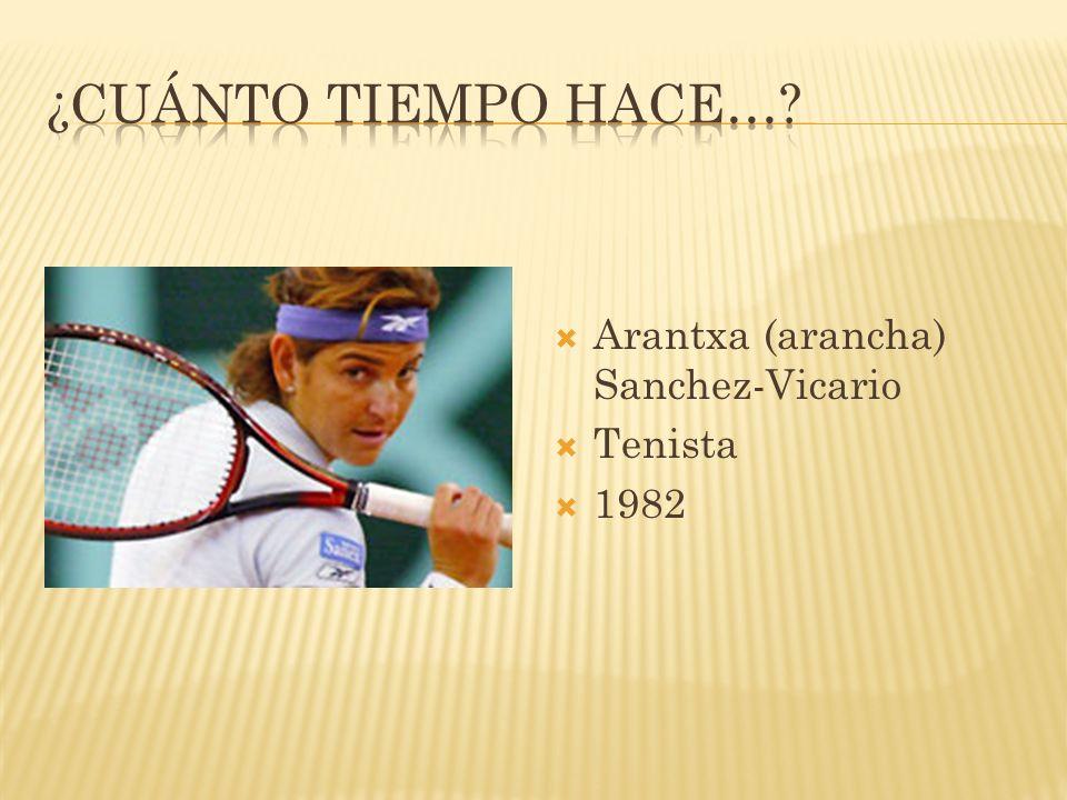 Arantxa (arancha) Sanchez-Vicario Tenista 1982