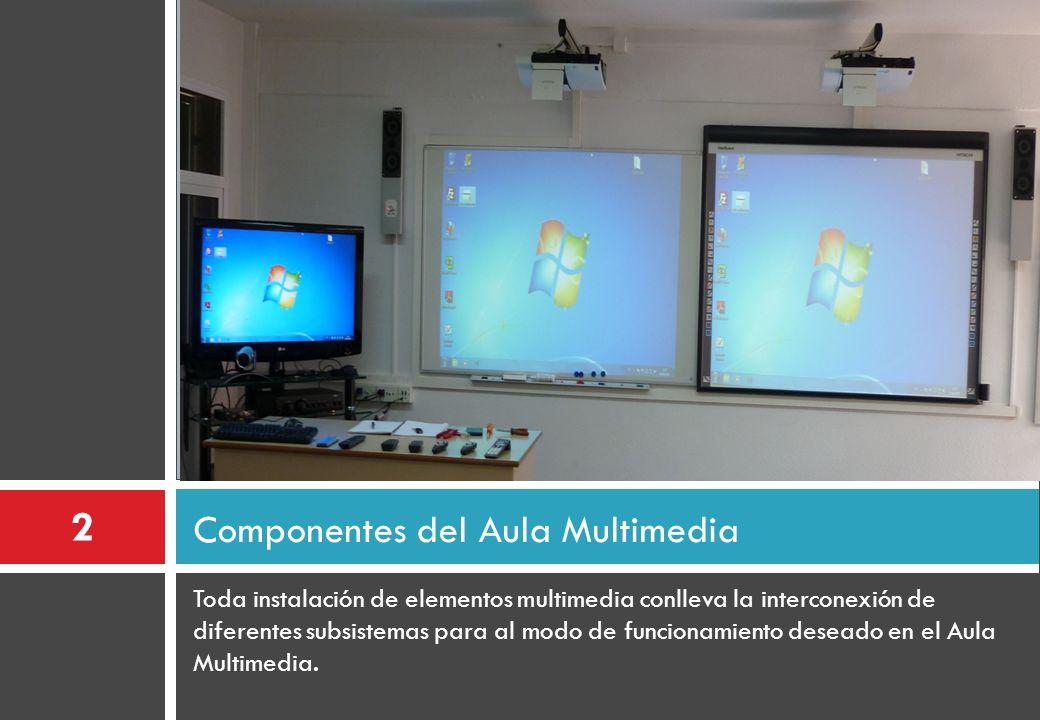 Toda instalación de elementos multimedia conlleva la interconexión de diferentes subsistemas para al modo de funcionamiento deseado en el Aula Multime