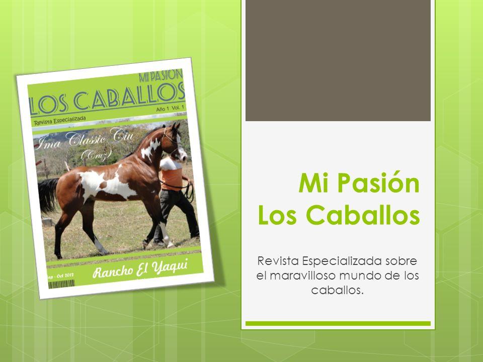Mi Pasión Los Caballos Revista Especializada sobre el maravilloso mundo de los caballos.
