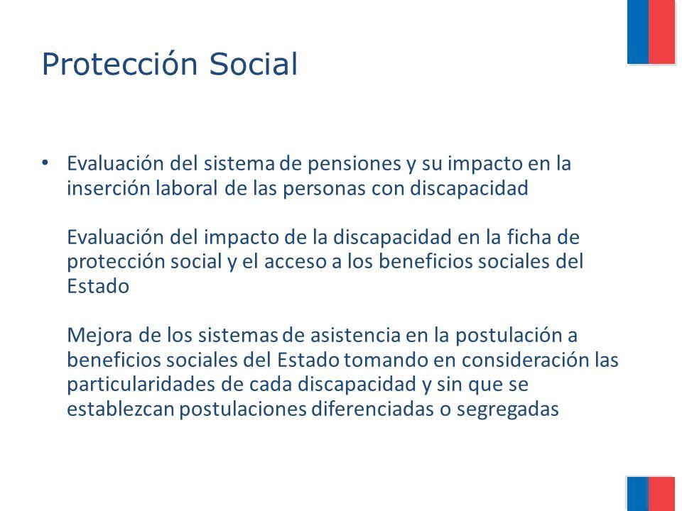 Protección Social Evaluación del sistema de pensiones y su impacto en la inserción laboral de las personas con discapacidad Evaluación del impacto de