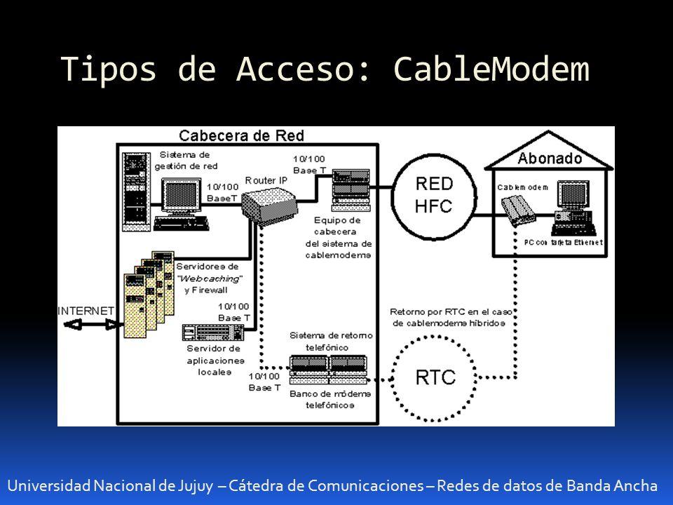 Tipos de Acceso: CableModem Universidad Nacional de Jujuy – Cátedra de Comunicaciones – Redes de datos de Banda Ancha