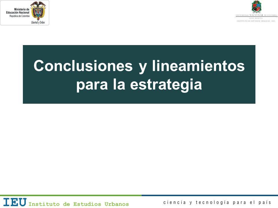 Conclusiones y lineamientos 1.