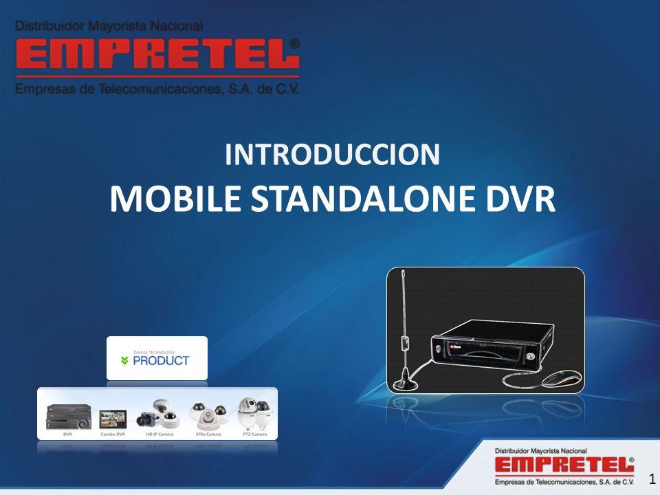 Visión General MODELO DH-DVR0404ME-U 4 Canales – Entradas de Video 4 Canales – Entradas de Audio EL primer canal soporta 25/30fps a resolución D1 y los otros canales soportan 25/30fps a resolución CIF.