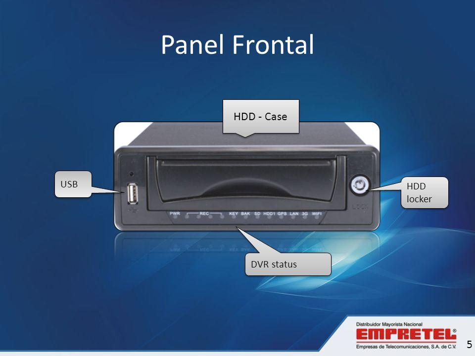 Descripción de Panel Frontal 6