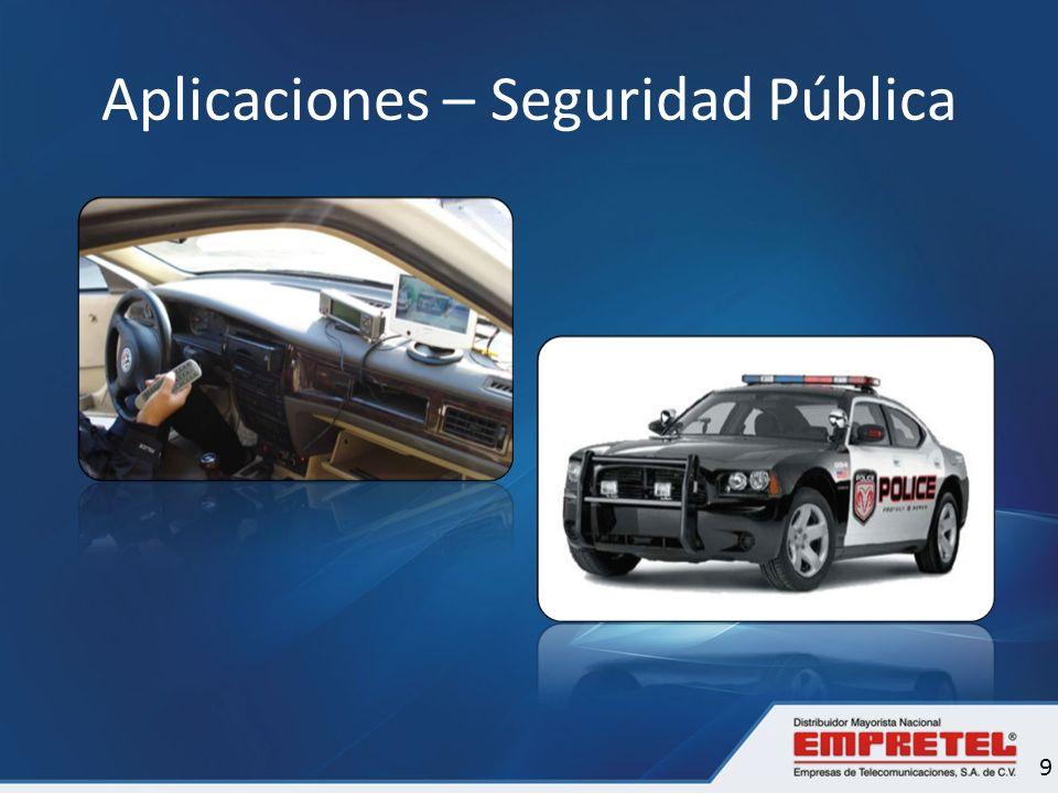 Aplicaciones – Seguridad Pública 9