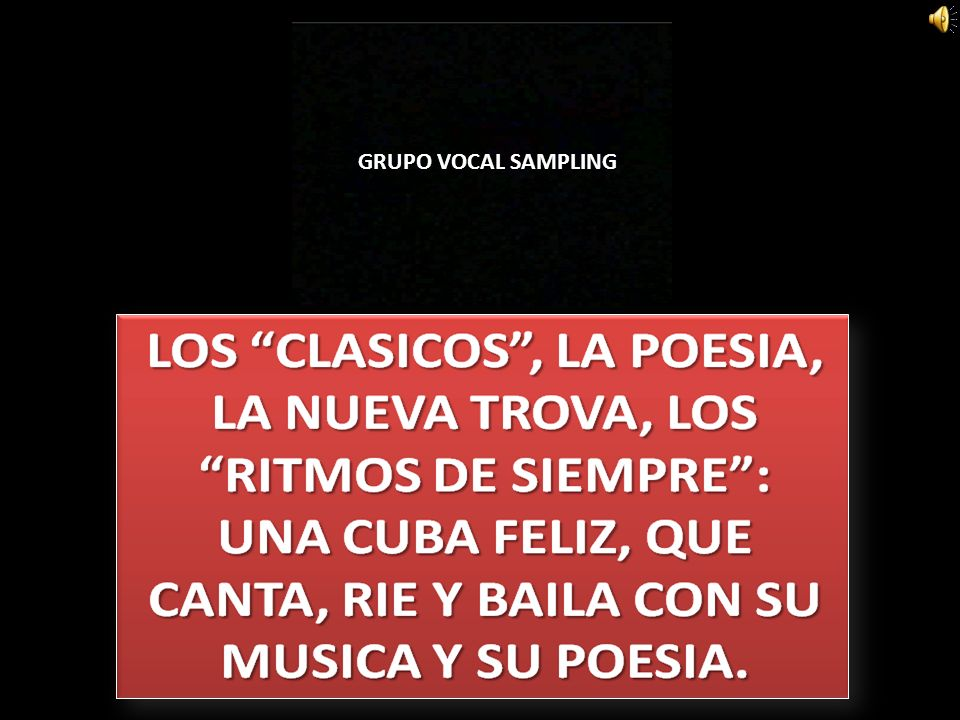 GRUPO VOCAL SAMPLING