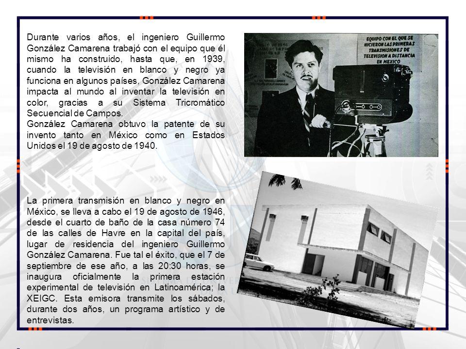 Durante varios años, el ingeniero Guillermo González Camarena trabajó con el equipo que él mismo ha construido, hasta que, en 1939, cuando la televisi