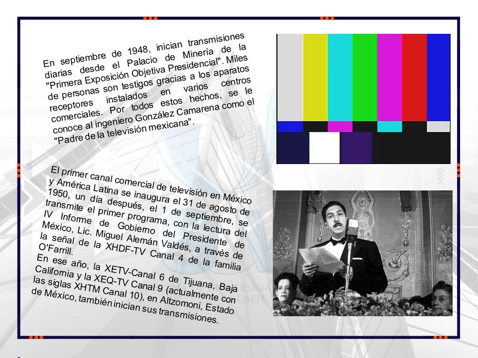 En septiembre de 1948, inician transmisiones diarias desde el Palacio de Minería de la