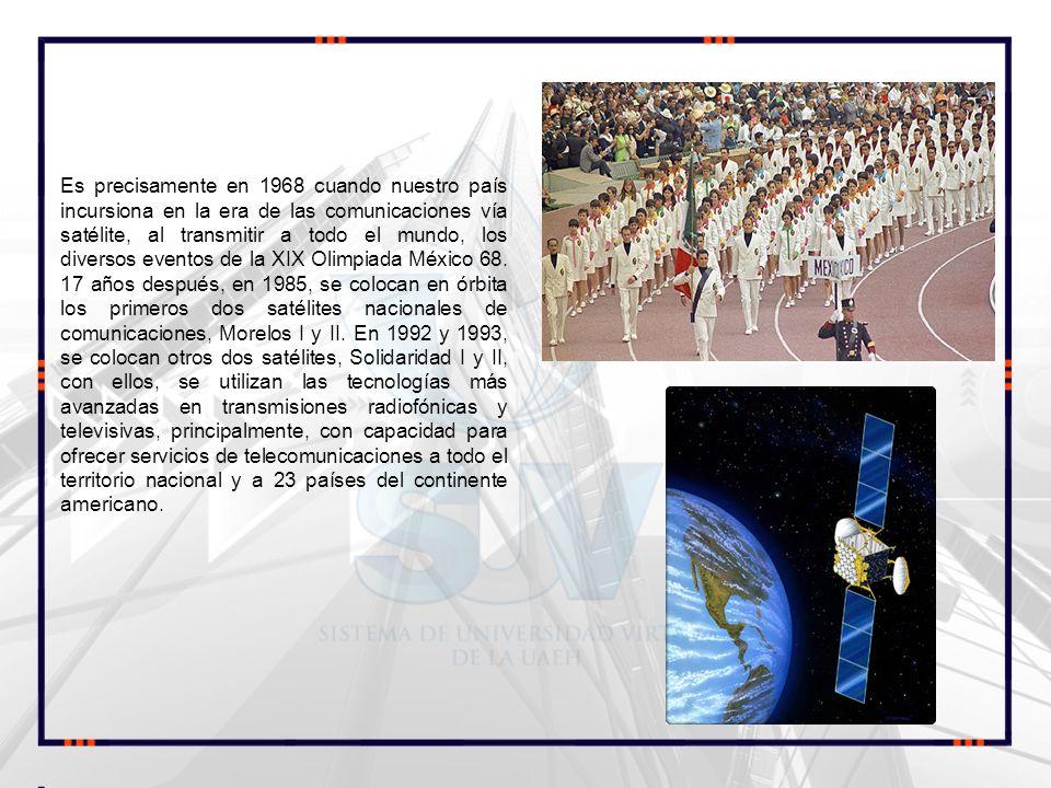 Es precisamente en 1968 cuando nuestro país incursiona en la era de las comunicaciones vía satélite, al transmitir a todo el mundo, los diversos event
