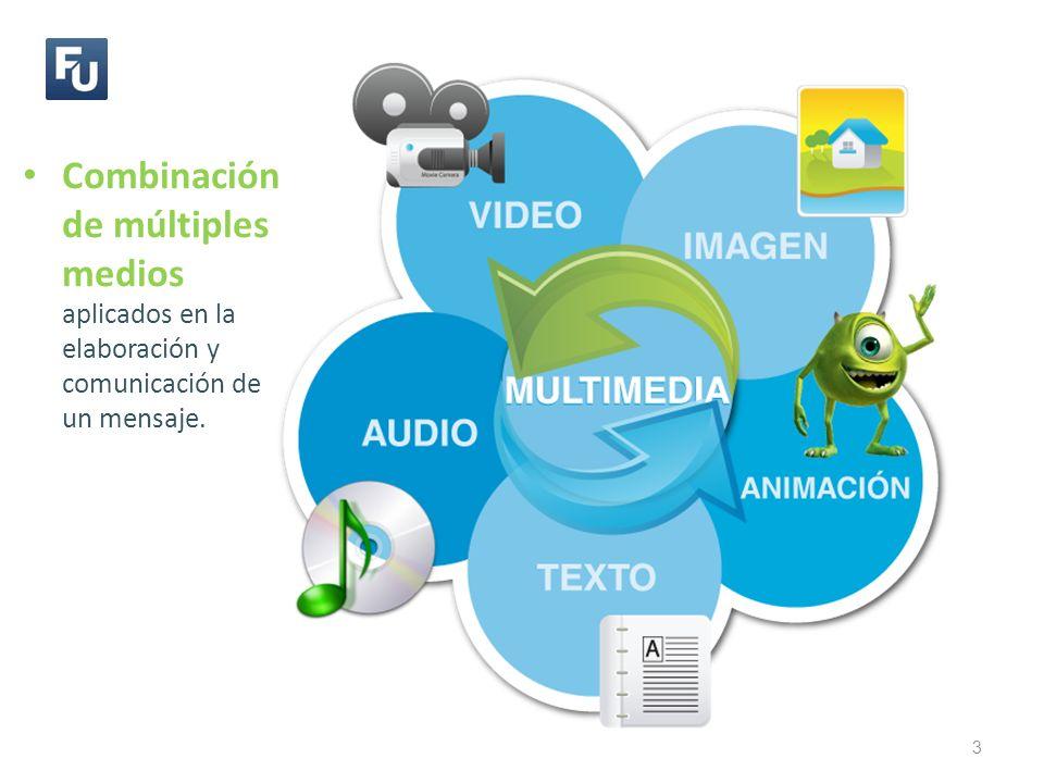 3 Combinación de múltiples medios aplicados en la elaboración y comunicación de un mensaje.