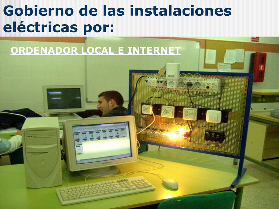 Gobierno de las instalaciones eléctricas por: Ordenador ORDENADOR LOCAL E INTERNET