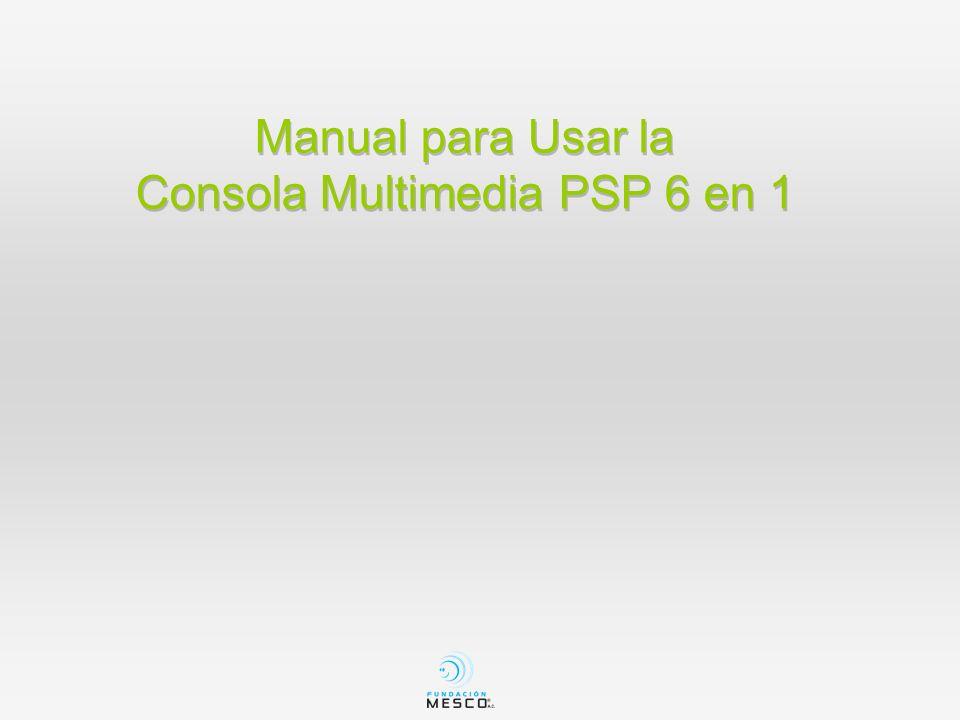 Contenido en el Estuche Consola Multimedia PSP Cargador CD con 1000 juegos Audífonos Cable USB Cable audio y video para la T.