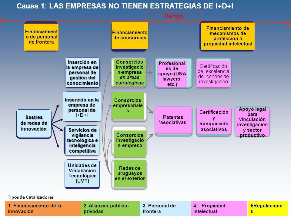 Sastres de redes de innovación Consorcios empresariale s Consorcios investigació n-empresa Financiamiento de mecanismos de protección a propiedad inte