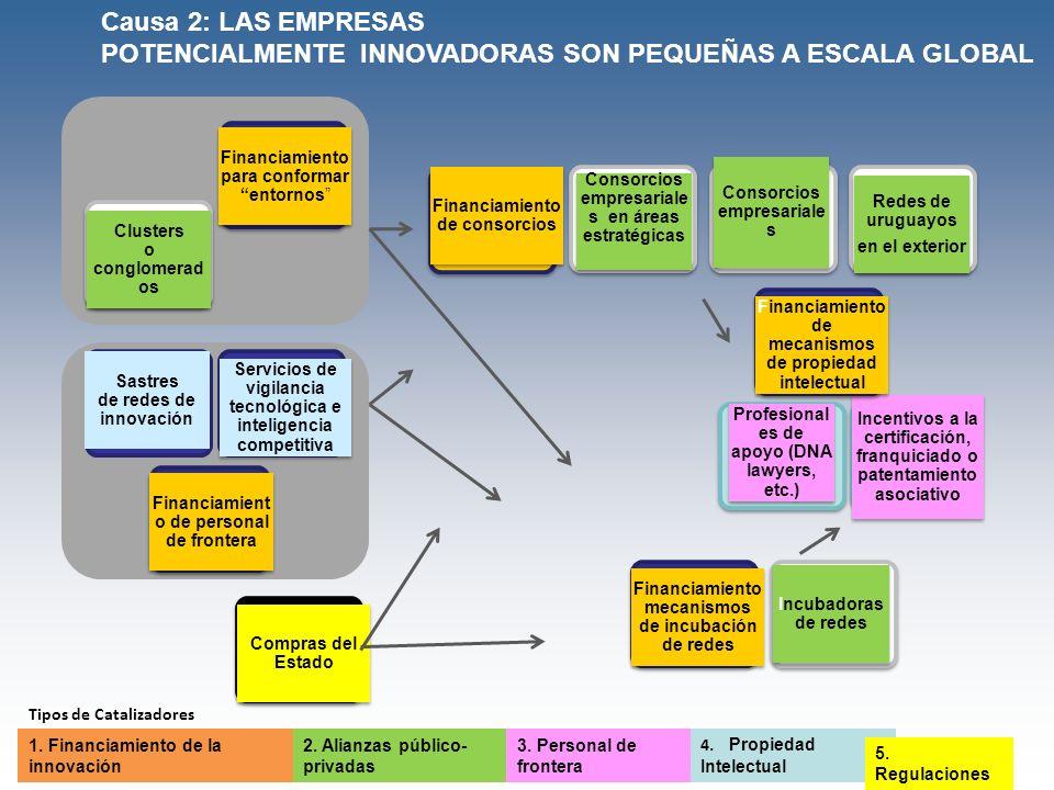 Sastres de redes de innovación Redes de uruguayos en el exterior Redes de uruguayos en el exterior Consorcios empresariale s Servicios de vigilancia t
