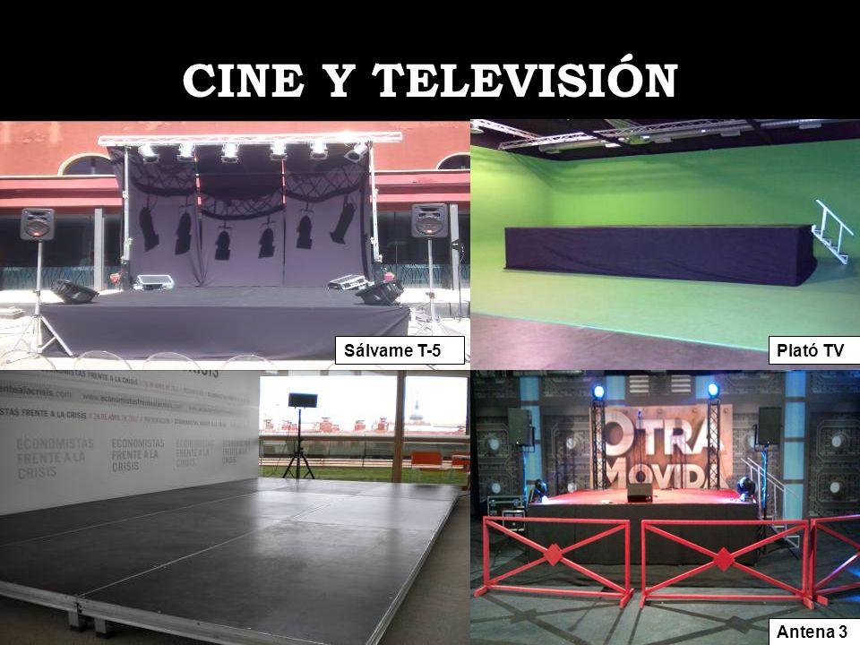 CINE Y TELEVISIÓN Sálvame T-5Plató TV Antena 3