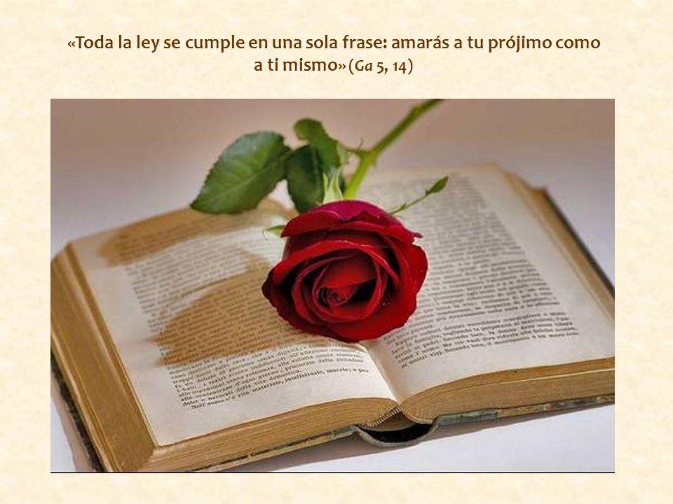 al contrario, el uno, el amor al prójimo, es expresión del otro, del amor a Dios.