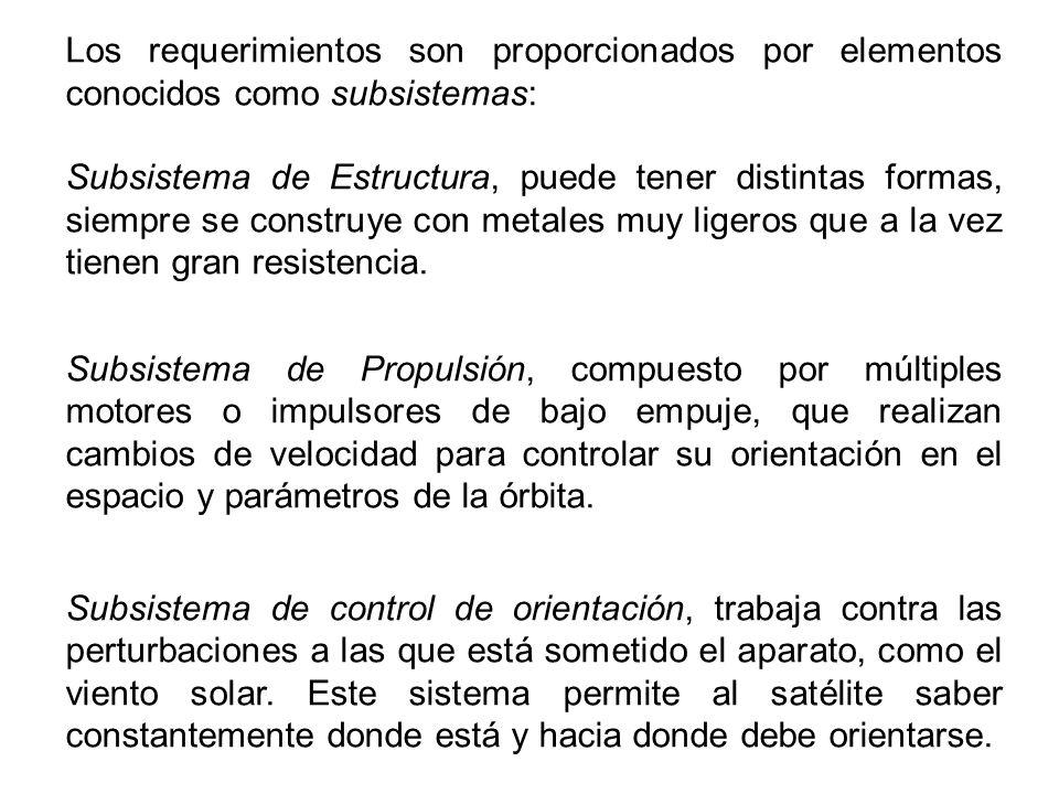 Los requerimientos son proporcionados por elementos conocidos como subsistemas: Subsistema de Estructura, puede tener distintas formas, siempre se con