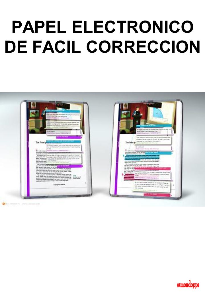 PAPEL ELECTRONICO DE FACIL CORRECCION