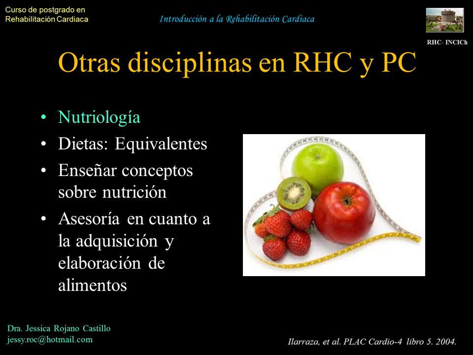 Nutriología Dietas: Equivalentes Enseñar conceptos sobre nutrición Asesoría en cuanto a la adquisición y elaboración de alimentos