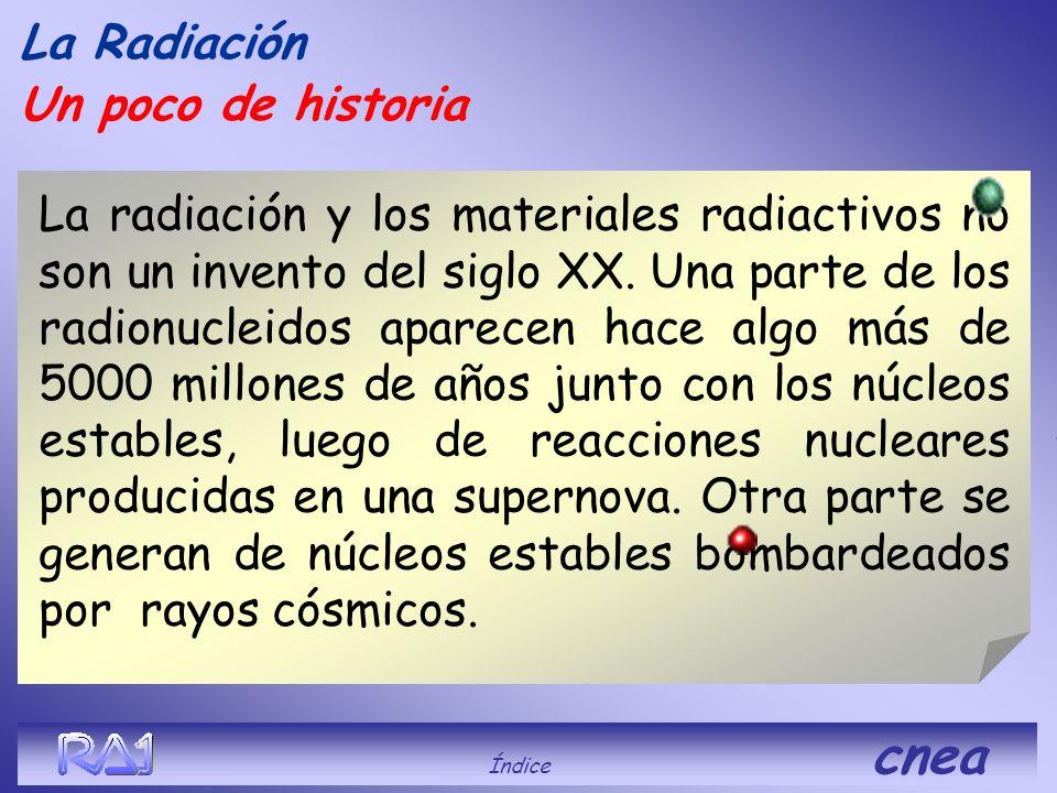 La Radiación de Cerenkov Índice cnea RA-3 Centro Atómico Ezeiza