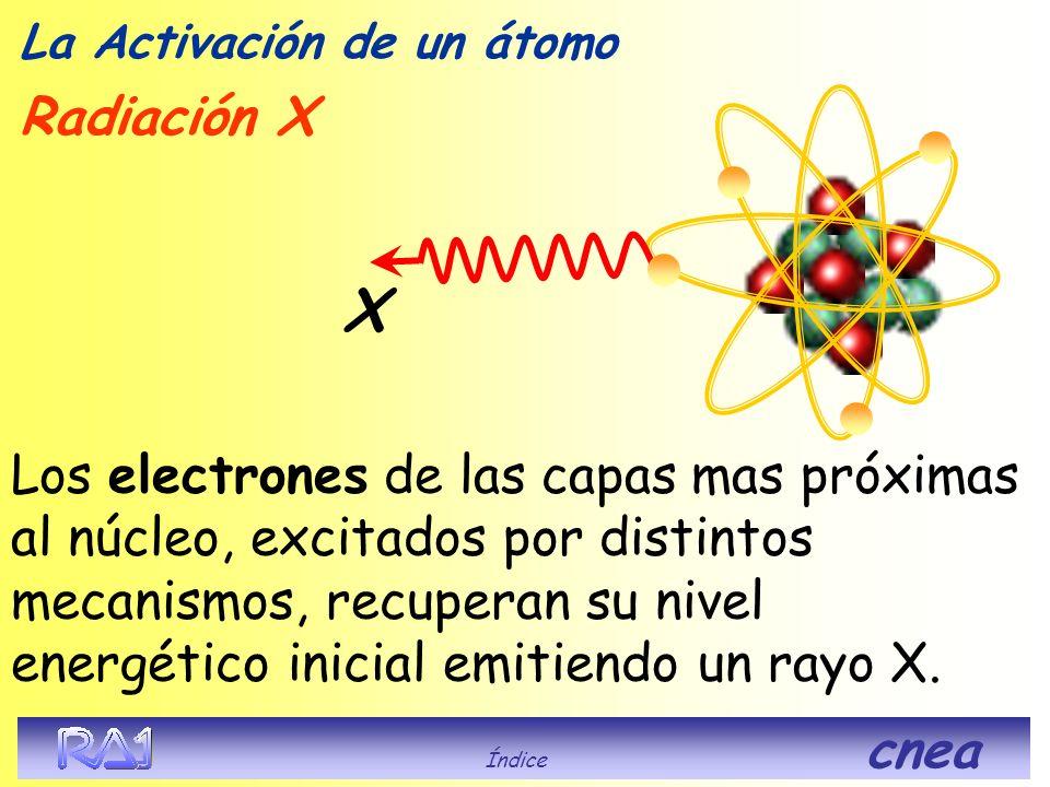 Se libera energía en forma de radiación o combinaciones de ellas Su Radiación puede ser La Activación de un átomo Índice cnea