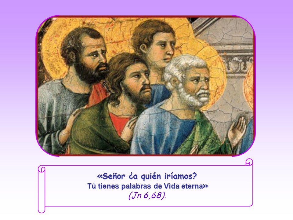 Viendo que los discípulos se echaban atrás y ya no iban con Él, Jesús les preguntó a los doce apóstoles: «¿También ustedes quieren dejarme?» Pedro, ca